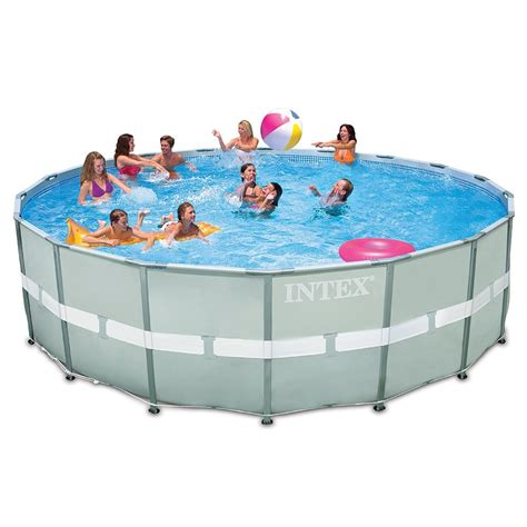 Pool Set by Intex 18ft X 52in Ultra Frame Pool Set With Sand Filter