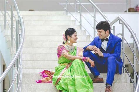 varsha reddy prabhu thej engagement south india fashion