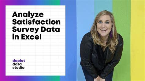 analyze satisfaction survey data  excel youtube
