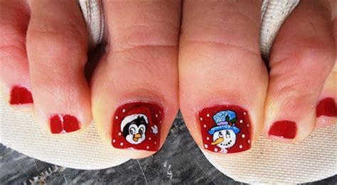 amazing christmas toe nail art designs ideas