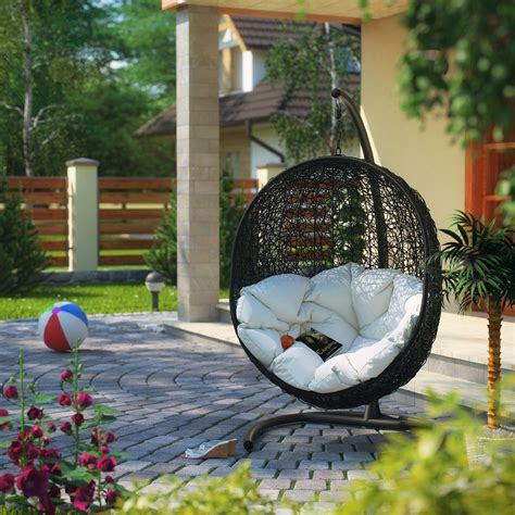 chaise suspendue jardin hanging egg chair outdoor ideas
