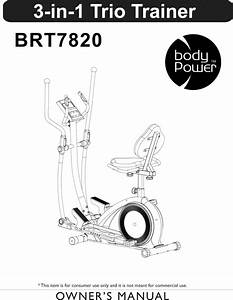 Body Flex Sports Brt7820 1311123l User Manual 3 In 1 Trio