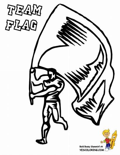 Football Coloring Pages Team Flag Boys Yescoloring