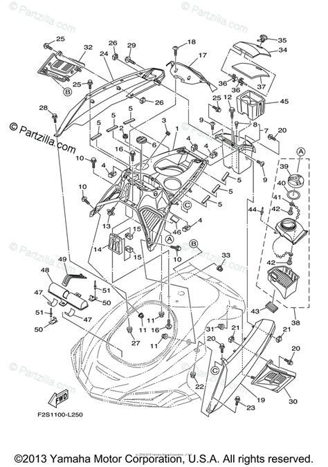 Waverunner Engine Diagram by Yamaha Waverunner 2012 Oem Parts Diagram For Engine Hatch
