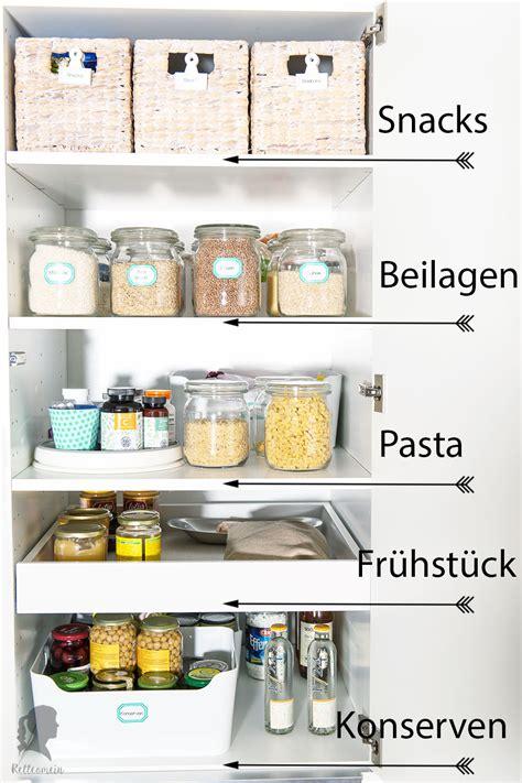 Schubladen Organisation Küche by Mehr Ordnung In Der K 252 Che Vorratsschrank Organisieren