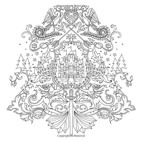 enchanted forest  inky quest coloring book johanna