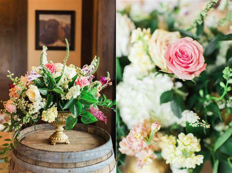 blush gold wedding flowers  riverside country club