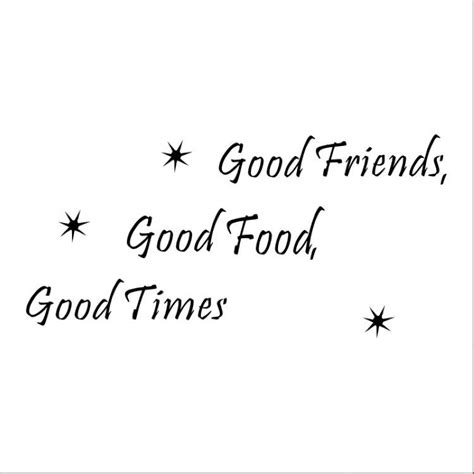 friends food time sayings quotes mural