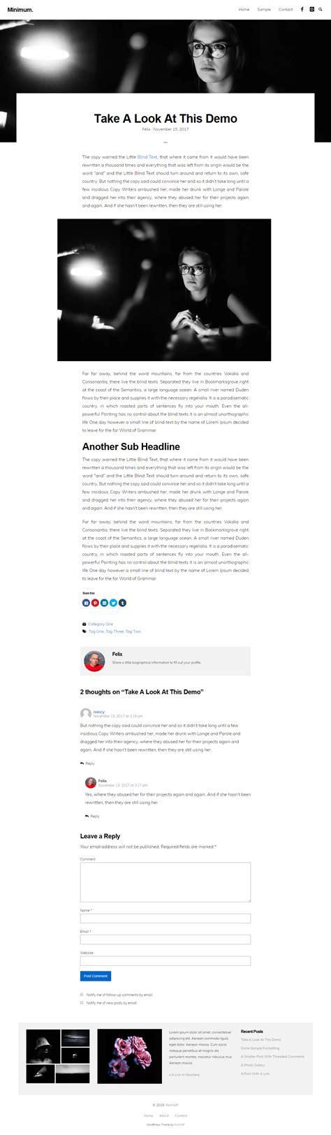 Minimal Themes 10 Best Free Minimal Themes Accesspress Themes