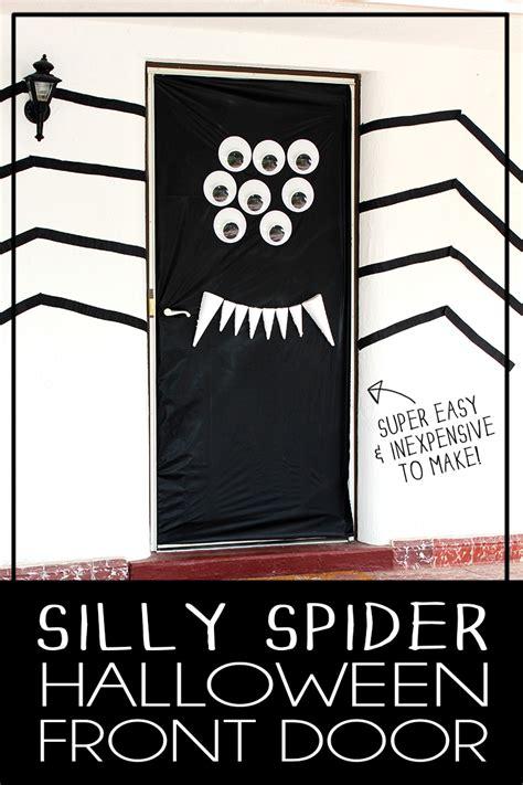 halloween door decorations diy silly spider darice