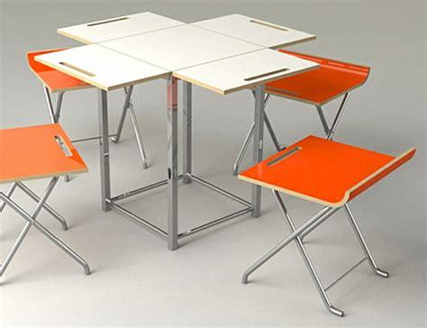 table de cuisine pliante avec chaises table pliante avec chaise intgre astuces gain de