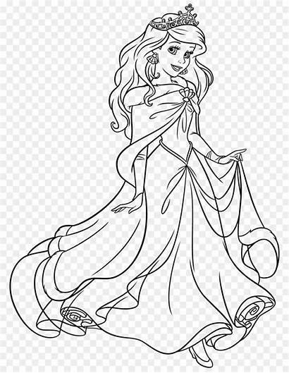 Ariel Princess Coloring Rapunzel Cinderella Tiana Pages
