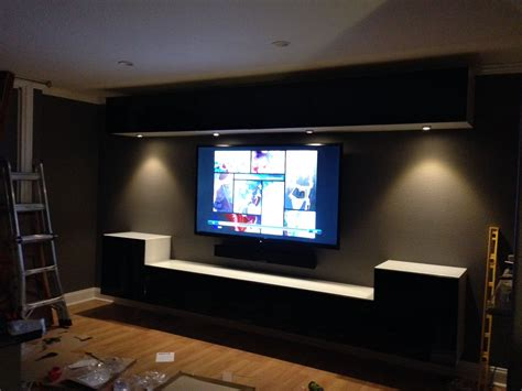 Wall Mounted Ikea Bestas And Under Cabinet Lights With