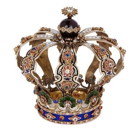 Judaica silver, enamel and precious stone Torah crown ...