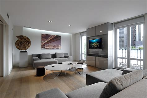 Grey Living Room Luxury Remodeled Apartment Iteriors