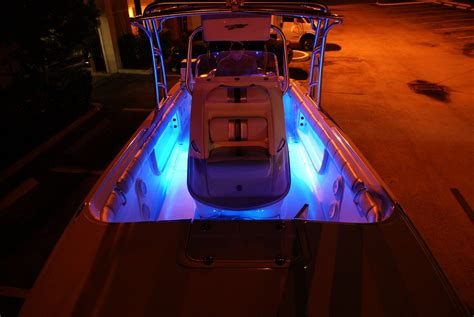Under Gunnel Led Boat Lights by Quot Under Gunwale Quot Style Led Lighting On 2 Pc Center Consoles