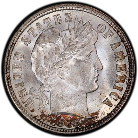 barber dime 1916 barber dime values and prices past sales coinvalues com