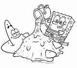 Spongebob Print Squarepants Coloring Pages Characters Cartoon sketch template