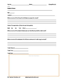 the way worksheet on the way to school companion worksheet by one to