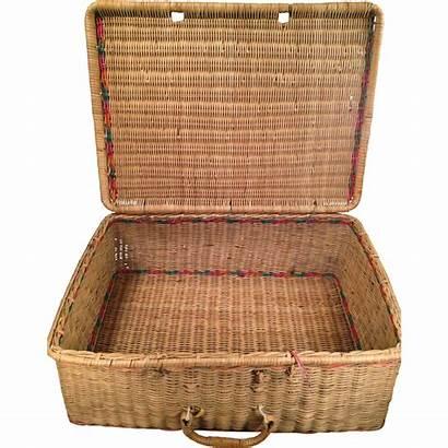 Basket Woven Reed Cane Handle Lane Ruby