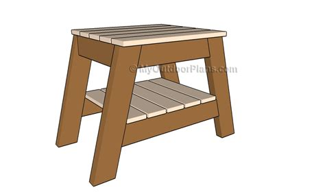 free outdoor end table plans woodworking projects