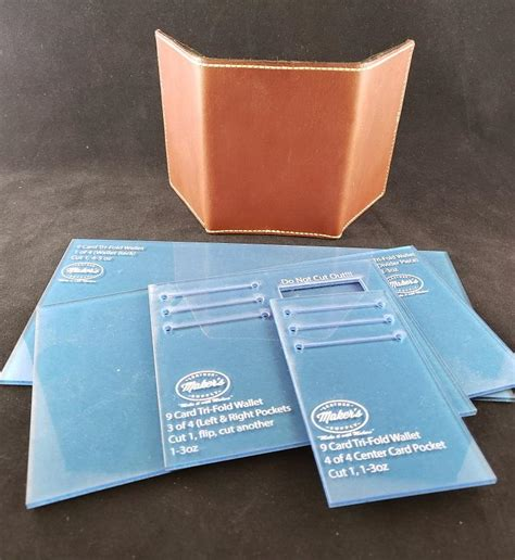 Check spelling or type a new query. Tri Fold Wallet Template Set, 9 Card - Maker's Leather Supply