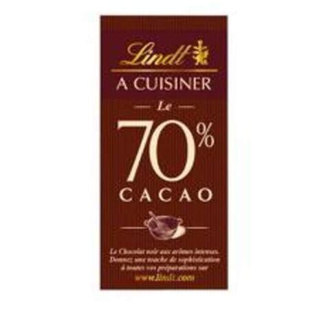 chocolat à cuisiner 70 cacao lindt