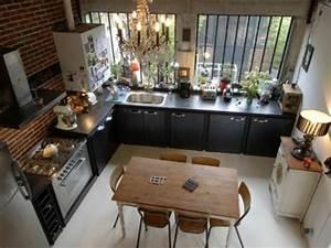 Cuisine Style Industriel Ikea : cuisine ouverte conviviale et fonctionnelle pour la maison ~ Melissatoandfro.com Idées de Décoration