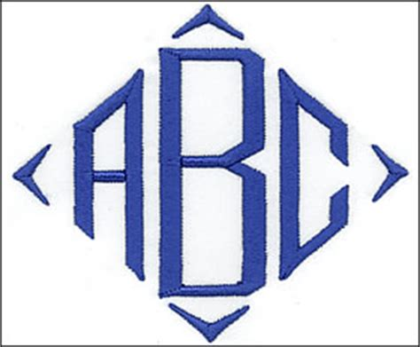 embroidery arts monogram styles diamond