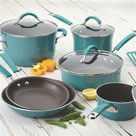 rachael ray porcelain enamel nonstick cookware  piece set giveaway closed easy delicious