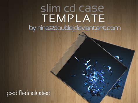 slim cd case template  ninedoublej  deviantart
