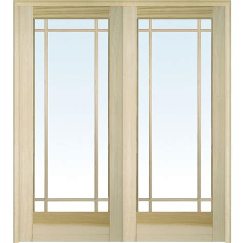 doors home depot interior builder 39 s choice 48 in x 80 in 10 lite clear wood pine