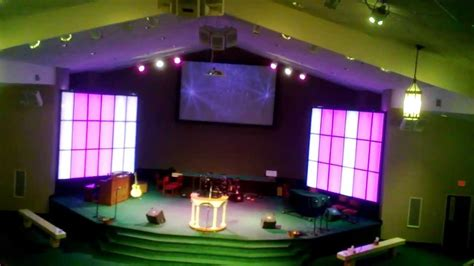 Church Stage Lighting by Led Light Strip Panel Wall Project For Church Youtube