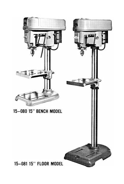 Drill Press Rockwell Floor Bench Manual Standing