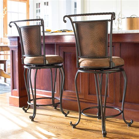 bar stools swivel bar stools with arms backs counter
