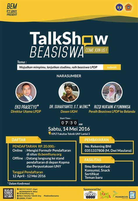talkshow beasiswa lpdp uny community