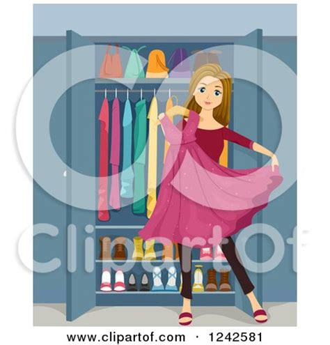 clipart   organized closet  pink curtains