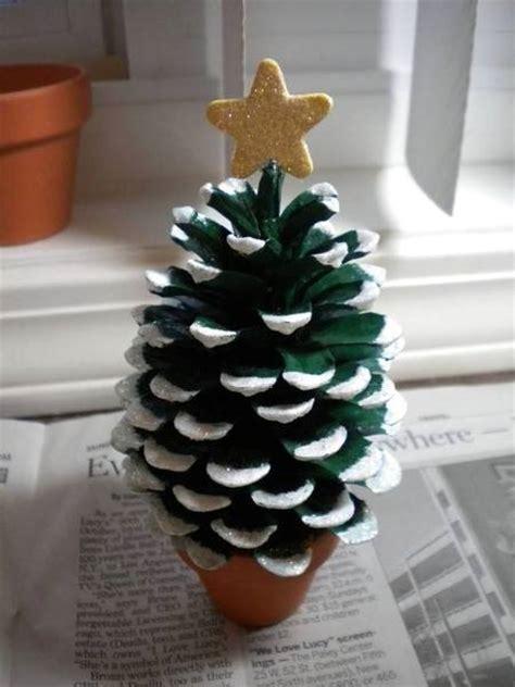 diy miniature pine cone christmas tree find fun art
