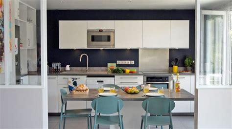 cuisine ouverte sur salon 30m2 aménagement salon côté maison