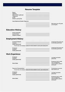 Easy fill in resume resume template cover letter for Resumae template