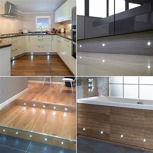 Led In Decke : buy 10 x 45mm stainless steel led plinth deck decking lights in cool white of strictly led 39 s ~ Markanthonyermac.com Haus und Dekorationen