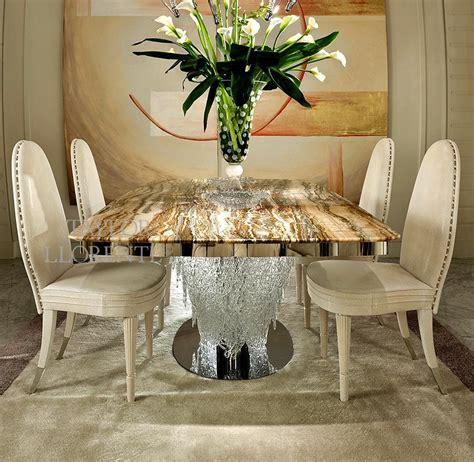 luxury dining table italian murano glass taylor