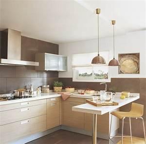 Kleine kuche einrichten 44 praktische ideen fur for H ngelampen küche
