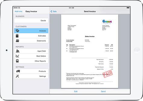 invoicing  ipad iphone  mac easy invoice