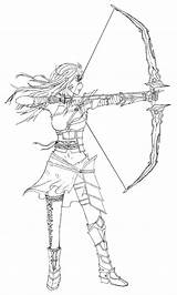 Archer Female Lineart Sketch Template Deviantart Coloring Derivative Noncommercial Attribution License Works Commons Creative sketch template
