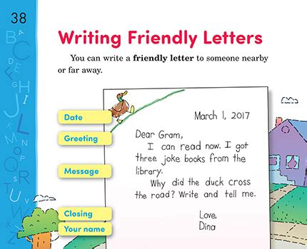 writing friendly letters thoughtful learning