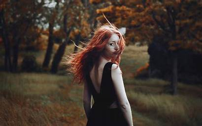 Hair Wind Wallpapers Mysterious Models Woman Woods