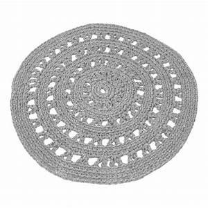Tapis Rond Design : tapis rond crochet gris clair naco design enfant ~ Teatrodelosmanantiales.com Idées de Décoration