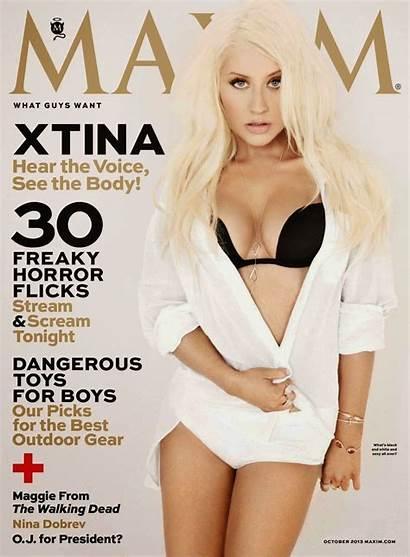 Aguilera Christina Maxim Magazine October Covers Oct