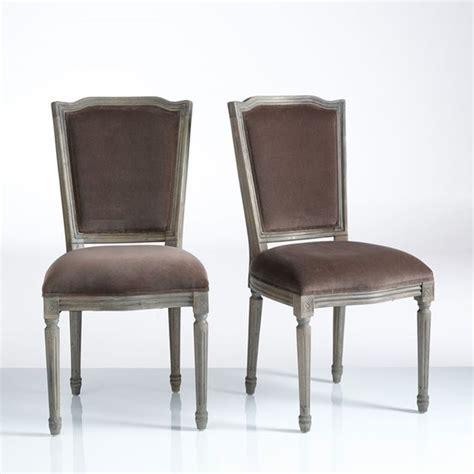 Chaise Style Louis Xvi Velours, (lot De 2) Trianon